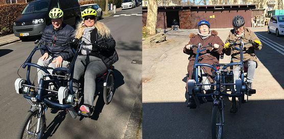 To billeder: Borger og ansatte cykler på de nye cykler