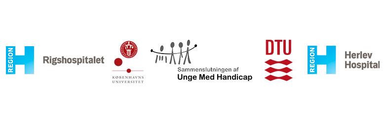 Logo vist: Rigshospitalet, Københavns Universitet, SUMH, DTU og Herlev Hospital.