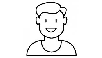 Illustration af et profilbillede